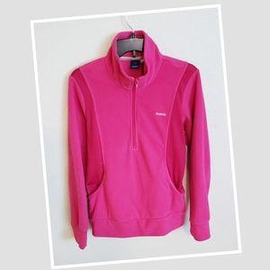Pink Reebok Half Zip Soft Active Jacket